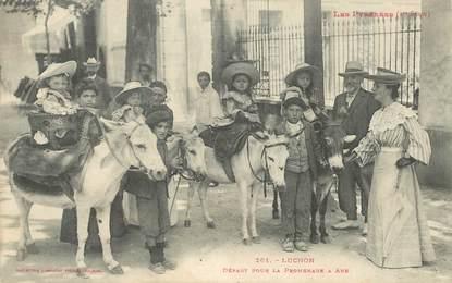 """CPA FRANCE 31 """"Luchon, départ pour la promenade à ânes"""""""