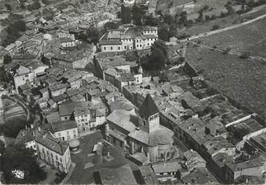 """/ CPSM FRANCE 69 """"Beaujeu en Beaujolais, vue aérienne sur l'église"""""""