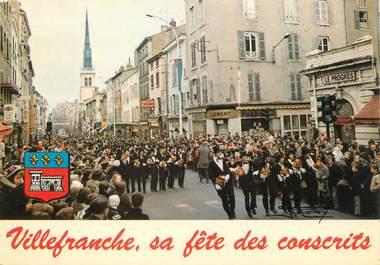 """/ CPSM FRANCE 69 """"Villefranche sur Saône, la traditionelle fête des Conscrits"""""""