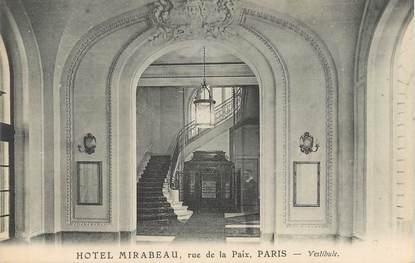 """CPA FRANCE 75001 """"Paris, Hotel Mirabeau, rue de la Paix"""""""
