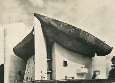 """/ CPSM FRANCE 70 """"Ronchamp, chapelle Notre Dame du Haut"""" /  ARCHITECTURE / LE  CORBUSIER"""