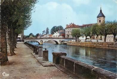 """/ CPSM FRANCE 70 """"Saint Loup sur Semouse, les quais"""""""
