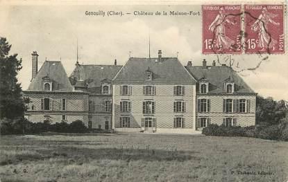 """CPA FRANCE 18 """"Genouilly, chateau de la Maison Fort"""""""