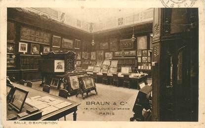 """CPA FRANCE 75002 """"Paris, Salle 'exposition, rue Louis le Grand"""" / PUBLICITE"""