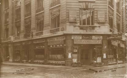 "CPA FRANCE 75002 ""Paris, boulevard des Italiens, Sam's Restaurant"""