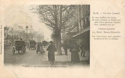 """CPA FRANCE 75002 """"Paris, le boulevard Bonne Nouvelle"""" / DENTISTE"""