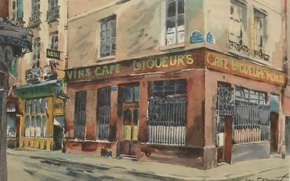 """CPA FRANCE 75004 """"Paris, Cabaret, quai de Bourbon"""""""