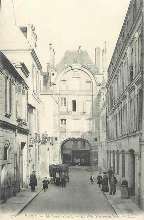 """CPA FRANCE 75004 """"Paris, Ile saint Louis, la rue Bretonvilliers"""""""