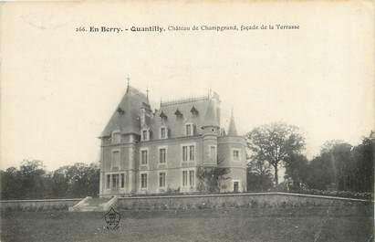 "CPA FRANCE 18 ""Quantilly, Château de Champgrand"""