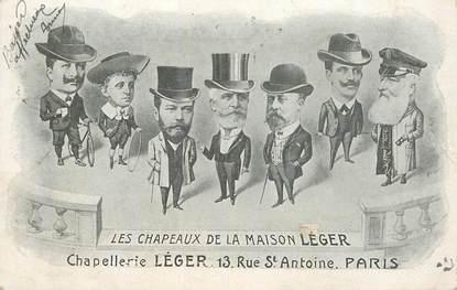 """CPA FRANCE 75004 """"Paris, Chapellerie Léger, rue Saint Antoine"""""""