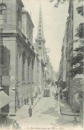 """CPA FRANCE 75004 """"Paris, la rue Saint Louis en l'Ile"""""""