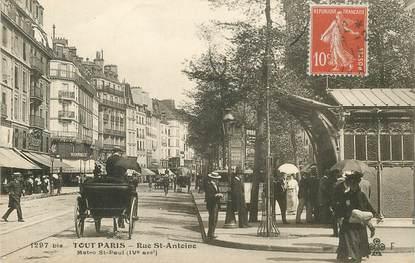 """CPA FRANCE 75004 """"Paris, la rue Saint Antoine"""""""