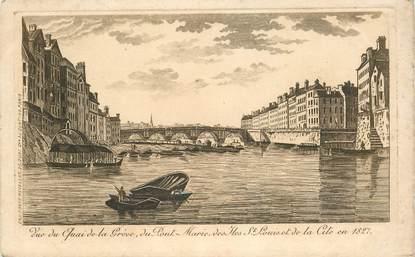 """CPA FRANCE 75004 """"Paris, le quai e la Grève"""