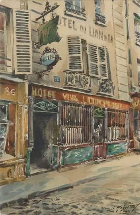 """CPA FRANCE 75005 """"Paris, Au lion d'Or, rue Mouffetard"""""""