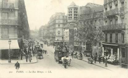 """CPA FRANCE 75005 """"Paris, rue Monge"""""""
