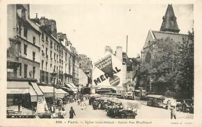 """CPA FRANCE 75005 """"Paris, Eglise Saint Médard, entrée rue Mouffetard"""""""