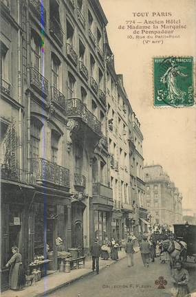 "CPA FRANCE 75005 ""Paris, ancien Hotel de Madame la Marquise"""