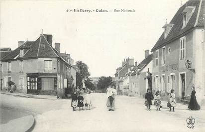 "CPA FRANCE 18 ""Culan, rue Nationale"""