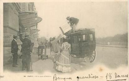 """CPA FRANCE 75006 """"Paris, a la Gare d'Orléans"""""""