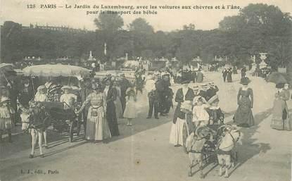 """CPA FRANCE 75006 """"Paris, le Jardin du Luxembourg"""" / CHEVRE / ANE"""