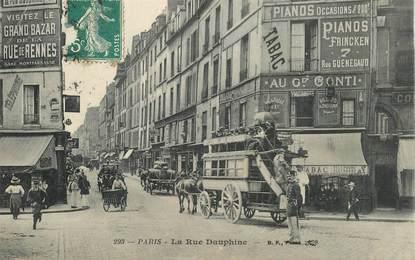 "CPA FRANCE 75006 ""Paris, rue Dauphine"""