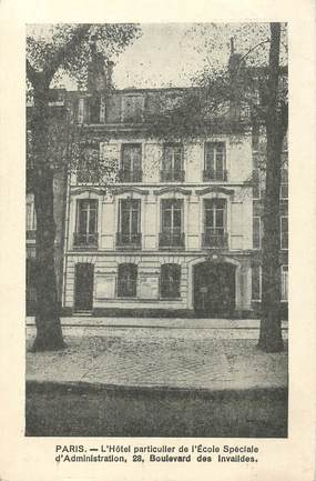 """CPA  FRANCE 75007 """"Paris, Hotel Particulier de l'Ecole spéciale d'Administration, boulevard des Invalides"""""""