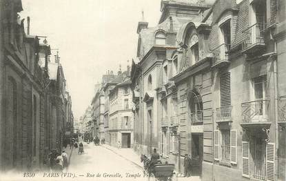 "CPA  FRANCE 75007 ""Paris, rue de Grenelle, temple protestant"""