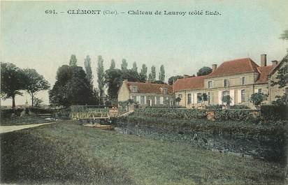 """CPA FRANCE 18 """"Clémont, chateau de Lauroy côté sud"""""""