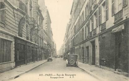 """CPA  FRANCE 75007 """"Paris, la rue de Bourgogne"""""""