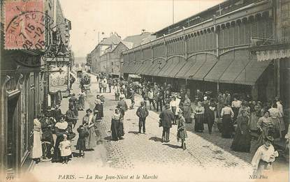"""CPA  FRANCE 75007 """"Paris, la rue Jean Nicot et le marché"""""""