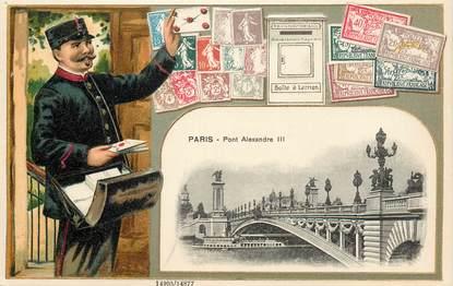 """CPA  FRANCE 75007 """"Paris, le pont Alexandre III"""" / FACTEUR"""