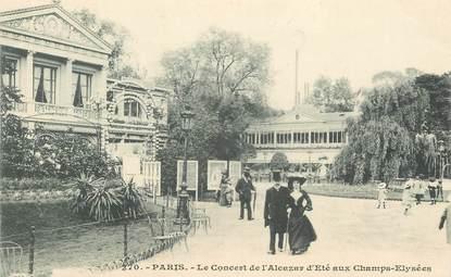"""CPA FRANCE 75008 """"Paris, le concert de l'Alcazar d 'Eté aux Champs Elysées"""""""
