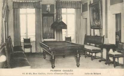 "CPA FRANCE  75008  ""Paris, pension Galilée"" / BILLARD"