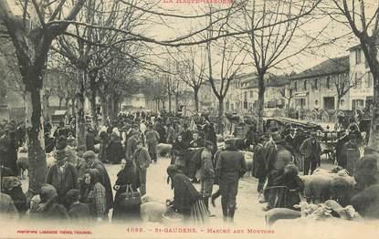 """CPA FRANCE  31 """"Saint Gaudens, le marché aux moutons"""""""