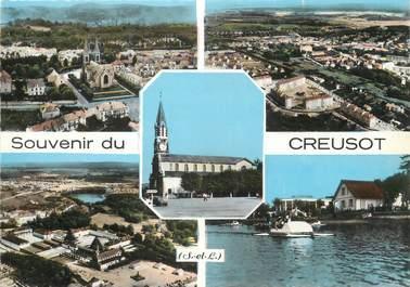 """/ CPSM FRANCE 71 """"Souvenir du Creusot"""""""