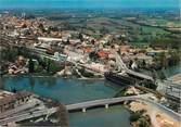 """71 SaÔne Et Loire / CPSM FRANCE 71 """"Louhans, vue panoramique aérienne"""""""