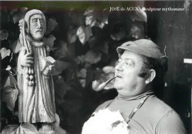 """/ CPSM FRANCE 71 """"Macon, José de Acuna, sculpteur mythomane """""""