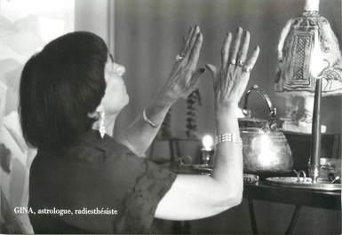 "/ CPSM FRANCE 71 ""Macon, Gina, astrologue, radiéthesiste"""