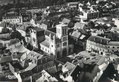 """/ CPSM FRANCE 71 """"Digoin, vue aérienne sur l'église"""""""