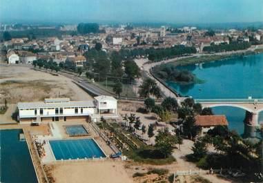 """/ CPSM FRANCE 71 """"Digoin, vue aérienne sur la piscine"""""""