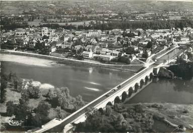 """/ CPSM FRANCE 71 """"Digoin, vue aérienne sur la ville et le pont aqueduc"""""""