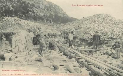 """CPA FRANCE 66 """"les Bouillouses, travaux du barrage des Etangs"""""""