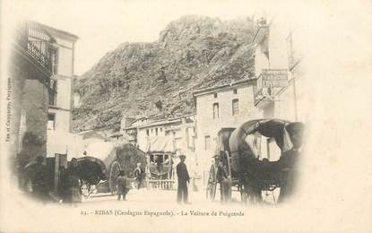 "CPA FRANCE 66 ""Ribas, la voiture de Puigcerda"""