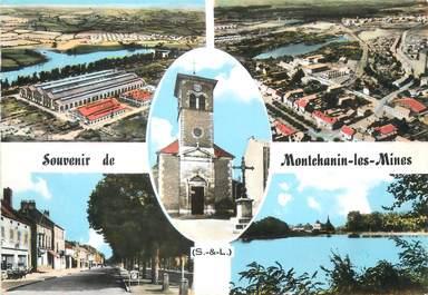 """/ CPSM FRANCE 71 """"Souvenir de Montchanin les Mines"""""""