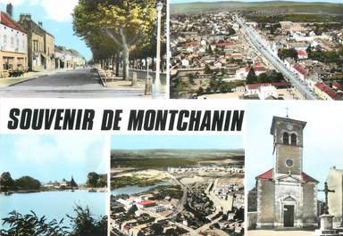 """/ CPSM FRANCE 71 """"Souvenir de Montchanin"""""""