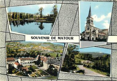 """/ CPSM FRANCE 71 """"Souvenir de Matour"""""""