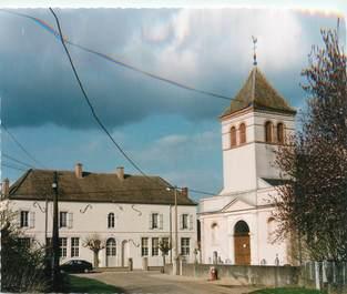 """/ CPSM FRANCE 71 """"Lays sur le Doubs, l'église et la mairie"""""""