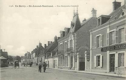 "CPA FRANCE 18 ""Saint Amand Montrond, rue Benjamin Constant"""