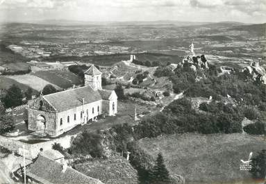 """/ CPSM FRANCE 71 """"Suin, la chapelle et la vierge"""""""