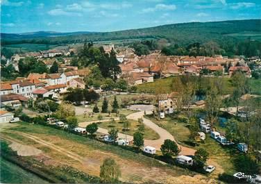 """/ CPSM FRANCE 71 """"Salornay sur Guye, vue aérienne du camping et du Bourg"""""""